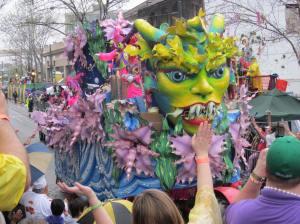 Mardi Gras parades--positively picturesque