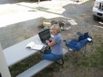 Writing--RV park near Lake City, Colorado