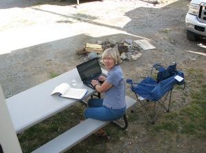 Writing--RV park near Lake City, Colorado