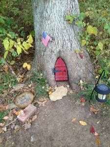 Elf house in a hollow tree