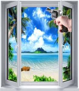 island window cat gun